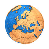 Europe on wooden Earth