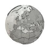 Europe on metallic planet Earth