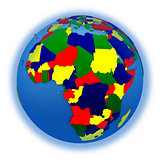 Africa on political model of Earth