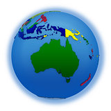 Australia on political model of Earth