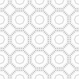 Geometric pattern with dots - seamless.
