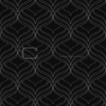 Black elegant seamless vector pattern