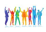 Colors Joyful jubilant people