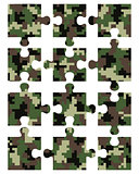 Puzzle camouflage seamless