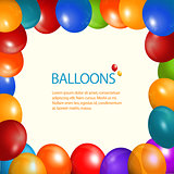 Balloons frame and sample text