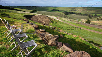 Australia vineyard with chairs