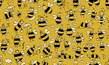 Funny bees, seamless pattern for your design
