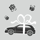Vector Illustration Gift car