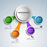 Abstract colored rounds info graphic elements poster template