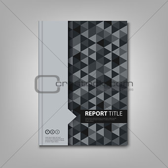 Brochures book or flyer with gray triangular pattern