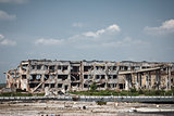 View of donetsk airport ruins