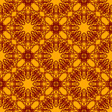 Seamless Texture on Orange. Ornamental Backdrop.