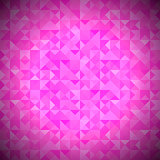 Pink Background with Geometric Triangles.