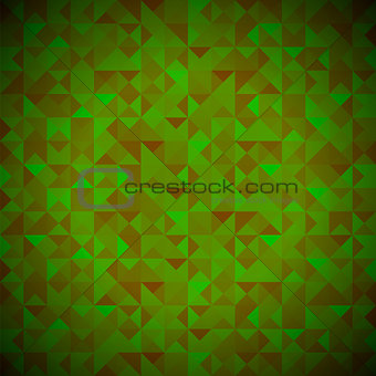 Green Background with Geometric Shapes, Triangles