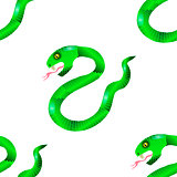Green Snake Seamless Background