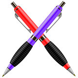 Set of Colorful Pens Isolated