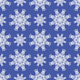 Seamless Texture on Blue. Ornamental Backdrop