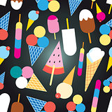 Graphic design colorful ice cream