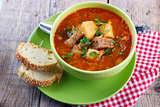 Traditional cabbage soup