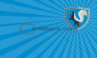 Business card Skunk Prancing Side Crest Retro