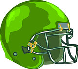 American Football Helmet Green WPA