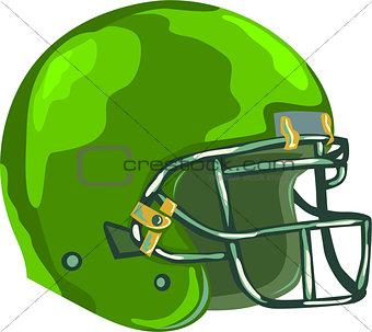 American Football Helmet Green WPA