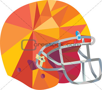 American Football Helmet Low Polygon
