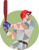 Baseball Batter Batting Circle Low Polygon