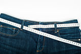 Blue jeans measuring