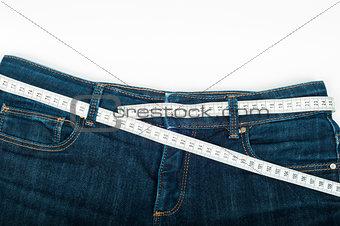 Blue jeans measuring