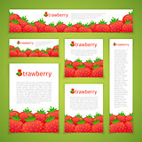 Set of Strawberry Banners