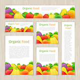 Set of Organic Food Banners