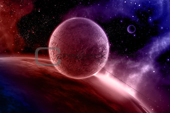 3D abstract space scene