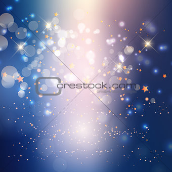 Abstract lights and stars background