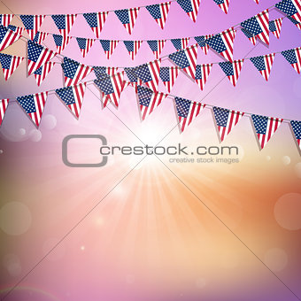 American flag bunting background
