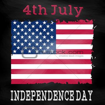 Grunge 4th July background