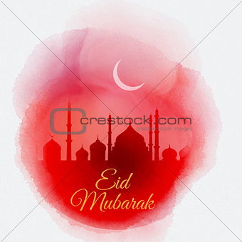 Watercolor Eid Mubarak background