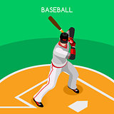Baseball 2016 Championship Isometric 3D Vector Illustration