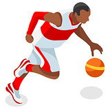 Basketball 2016 Sports 3D Isometric Vector Illustration
