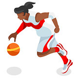 Basketball 2016 Sports Isometric 3D Vector Illustration