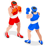 Boxing 2016 Sports 3D Isometric Vector Illustration
