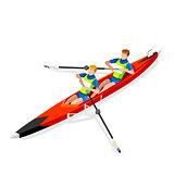 Canoe Coxless Pair 2016 Sports 3D Vector Illustration