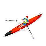 Canoe Rowing Single 2016 Sports 3D Vector Illustration