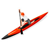 Canoe Sprint 2016 Sports Isometric 3D Vector Illustration