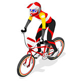 Cycling BMX 2016 Sports 3D Isometric Vector Illustration