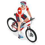 Cycling Mountain Bike 2016 Sports 3D Isometric Vector Ill