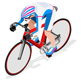 Cycling Track 2016 Sports 3D Isometric Vector Illustration