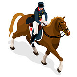 Equestrian Dressage 2016 Sports 3D Vector Illustration