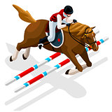 Equestrian Eventing 2016 Sports 3D Vector Illustration