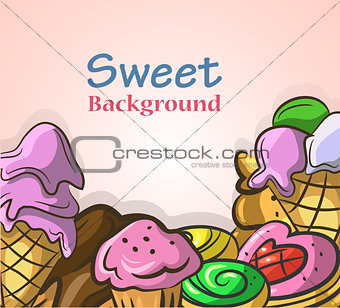 Abstract background with sweets